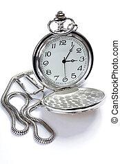 relógio bolso, branco