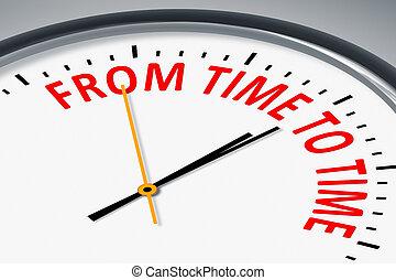 relógio, com, texto, de, tempo, cronometrar