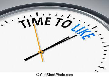 relógio, com, texto, tempo, para, semelhante