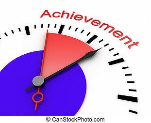 relógio, com, vermelho, secunda mão, área, burnout, 3d, achevement.rendered, ilustração