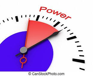relógio, com, vermelho, secunda mão, área, burnout, 3d, power.rendered, ilustração