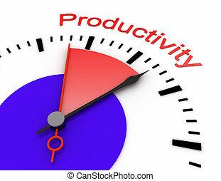 relógio, com, vermelho, secunda mão, área, burnout, 3d, productivity.rendered, ilustração