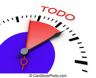 relógio, com, vermelho, secunda mão, área, burnout, 3d, todo.rendered, ilustração