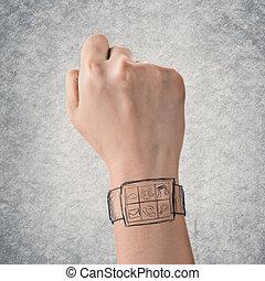 relógio, digital