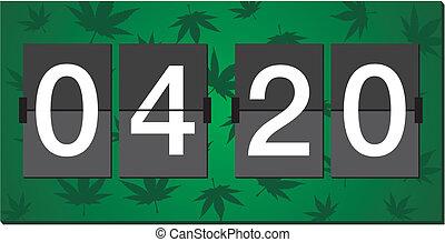 relógio, queimadura, -, tempo, 420, flipper