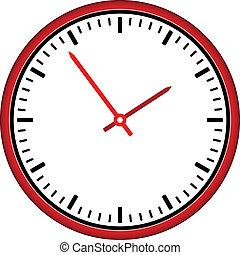 relógio, -, rosto, vetorial, fácil, tempo, mudança