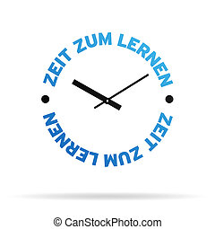 relógio, tempo, aprender