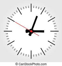 relógio, um
