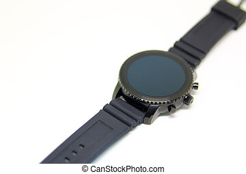 relógio, wearable, esperto, isolado