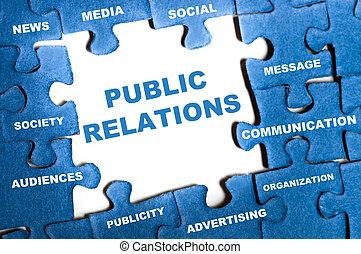 relações públicas, quebra-cabeça