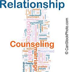 relación, asesoramiento