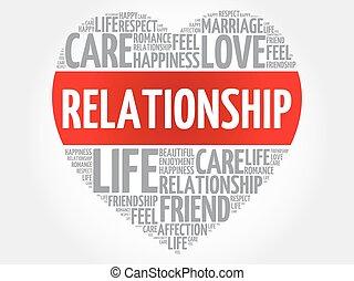 relación, concepto, corazón