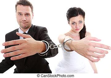 relación, concepto, pareja, en, divorcio, crisis