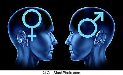 relación, heterosexual