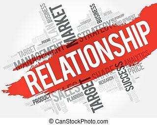 relación, palabra, nube