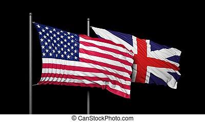 relacionamento, EUA, Reino Unido, entre