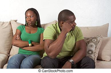 relacionamentos, par, dificuldades, crise, família