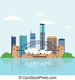 relacionar, australia, lugares