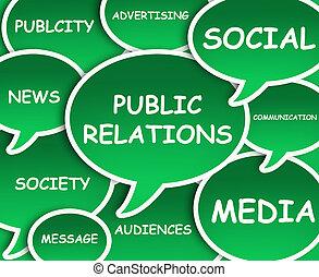 relaciones, público, nube
