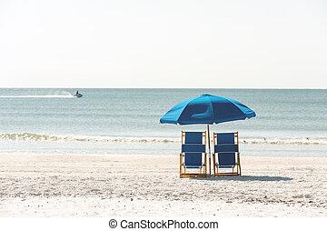 relajación, playa, floridian