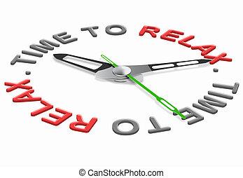 relajación, tiempo