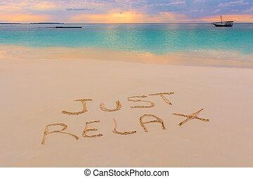 relajar, sólo, señal