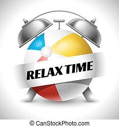 relajar, tiempo