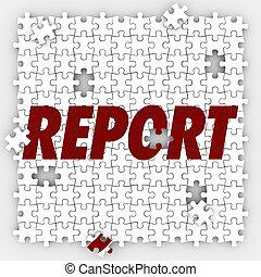 relatório, confunda pedaços, localizando, vendas, orçamento,...