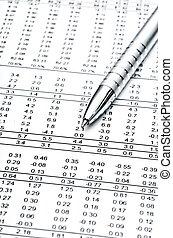 relatório, finacial, negócio