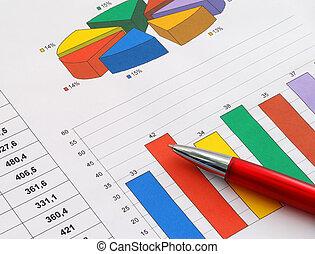 relatório, finanças