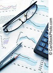 relatório, financeiro
