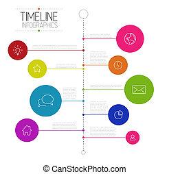 relatório, timeline, infographic, modelo