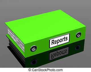 relatórios, arquivo, mostra, negócio documenta, e, contas