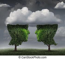relationdship, nuage