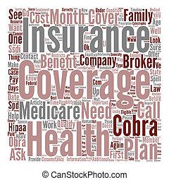 relations, cobra, concept, mot, texte, santé, assurance-maladie, fond, obra, definitions, hipaa, assurance, nuage