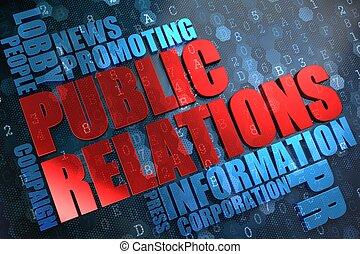 relations., wordcloud, concept., publiek