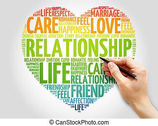 Relationship concept heart