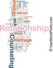 Relationship counseling - Word cloud concept illustration of...