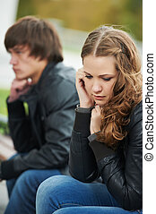 relationship difficulties of young people couple