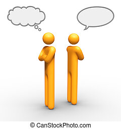 Relationship Difficulties - thinking and talking balloon...
