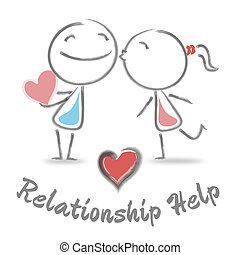 Relationship Help Means Love And Romance Assistance