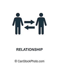 Relationship icon. Monochrome style design from business ethics icon collection. UI and UX. Pixel perfect relationship icon. For web design, apps, software, print usage.