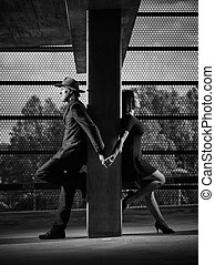 Relationship, man and woman, urban theme