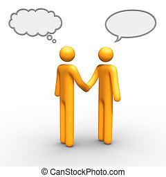 Relationship - thinking and talking balloon together you can...