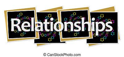 Relationships Dark Neon Squares - Relationships text written...