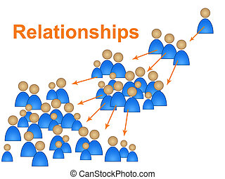 Relationships Network Represents Social Media Marketing And...