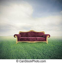 Relax and comfort - Concept of relax and comfort with a...
