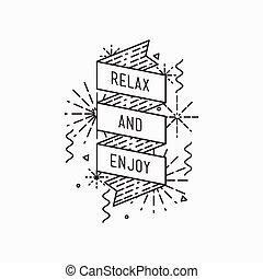 relax and enjoy. Inspirational vector summer illustration
