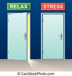 relax and stress doors concept