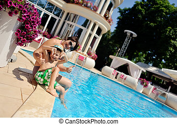 relax at the pool